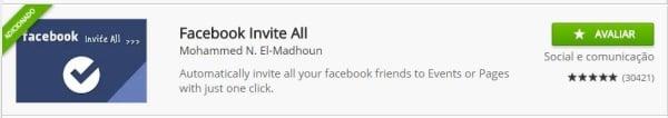 aplicativo para convidar amigos para curtir fanpage