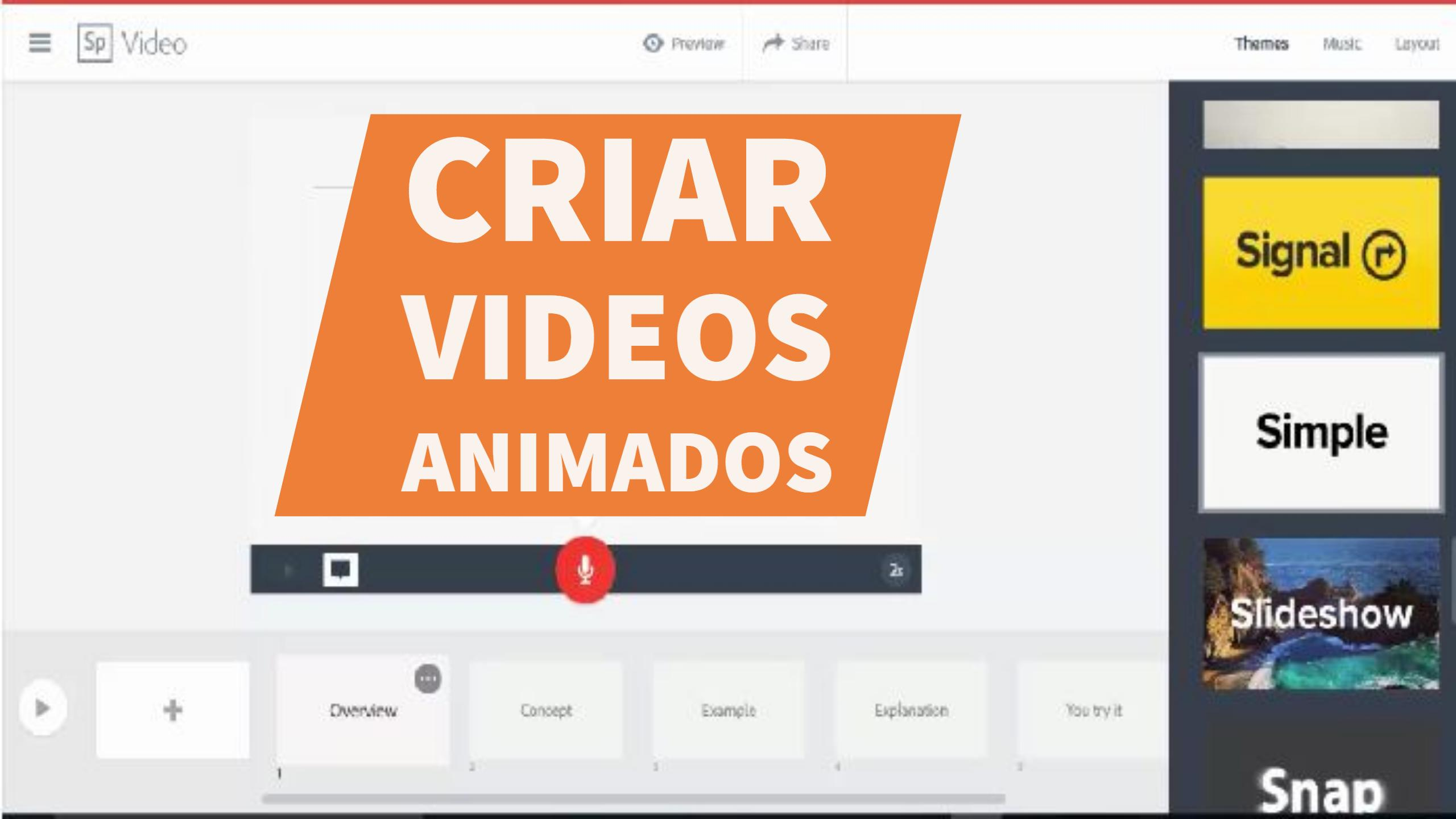 Criar Vídeos Animados