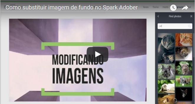 Como substituir imagem de fundo no Spark Adober